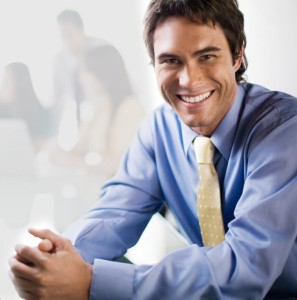 smiling tie guy